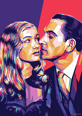 Mixed Media Royalty Free Images - Veronica Lake and Fredric March Royalty-Free Image by Stars on Art