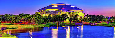 Royalty-Free and Rights-Managed Images - Vibrant Cowboys Stadium Panorama - Arlington Texas by Gregory Ballos