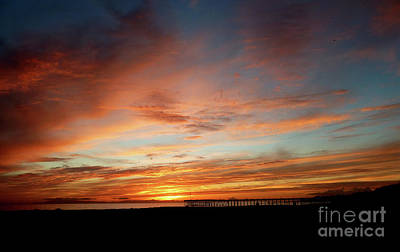 Abstract Stripe Patterns - Vibrant Ventura Sunset by Julieanne Case