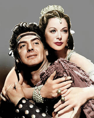 Royalty-Free and Rights-Managed Images - Victor Mature and Hedy Lamarr by Stars on Art