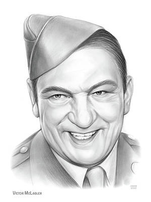 Drawings Royalty Free Images - Victor McLaglen Royalty-Free Image by Greg Joens
