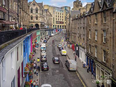 Photograph - Victoria Street, Edinburgh by Jeff Whyte