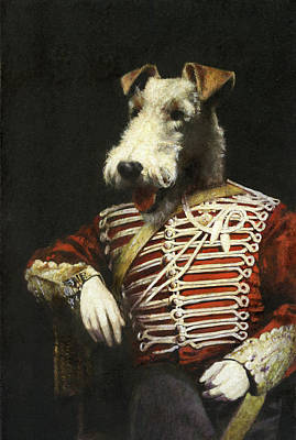 Aretha Franklin - Victorian Fox Terrier Portrait by Michael Thomas
