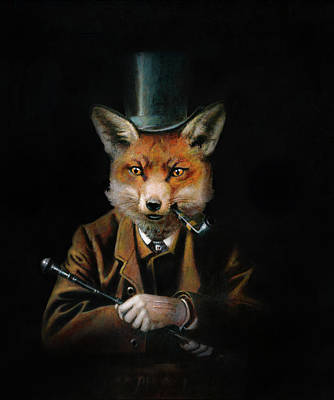 Aretha Franklin - Victorian Gentleman Fox by Michael Thomas