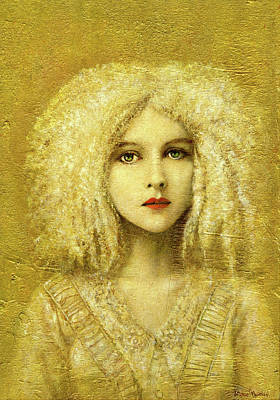 Royalty-Free and Rights-Managed Images - Victorian Gothic Girl On Gold by Michael Thomas