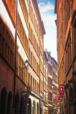 Classic Christmas Movies - Vieux Lyon France Rue de Boeuf by Carol Japp