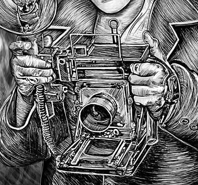 Drawing - View Camera by Doug LaRue