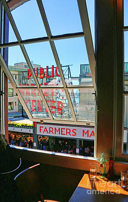 Studio Grafika Vintage Posters - View From Matts in the Market Pike Place Seattle  2428 b by Jack Schultz