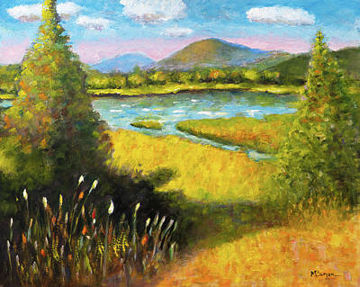 Painting - View from Philomath Scout Lodge by Mike Bergen