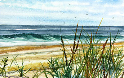 Celebrity Watercolors - View from the Dunes by Patricia Allingham Carlson