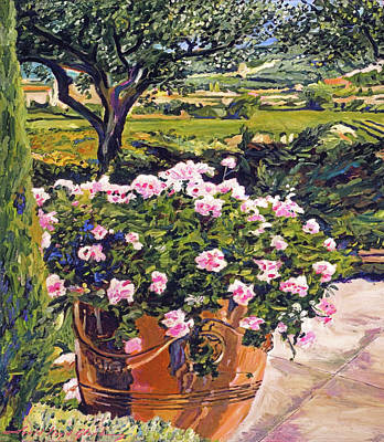 Painting Royalty Free Images - View From The Patio Royalty-Free Image by David Lloyd Glover