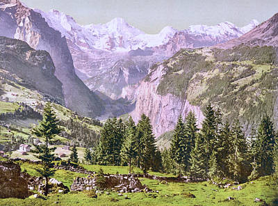 Royalty-Free and Rights-Managed Images - View of Breithorn from Wengen, Bernese Oberland, Bern, Switzerland 1890. by Joe Vella