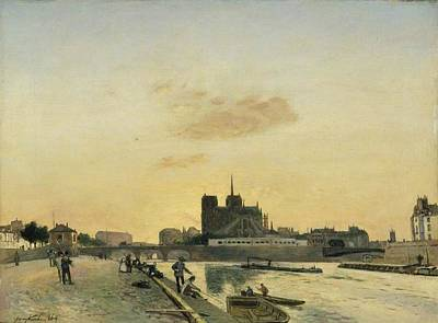 Winter Animals - View of Notre Dame Paris by Artistic Panda