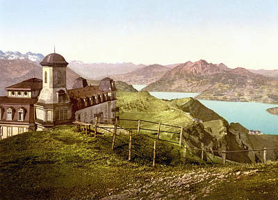 Royalty-Free and Rights-Managed Images - View of Pilatus from Rigi Kulm, Schwyz, Switzerland 1890. by Joe Vella