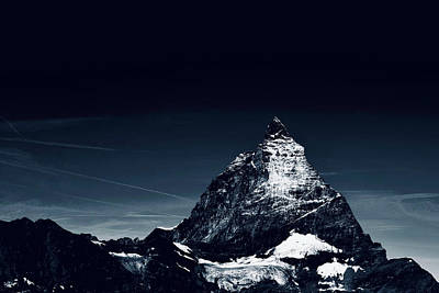 Winter Animals - View of the Matterhorn from Trockener Steg, Visp,Valais, Switzerland. by Joe Vella