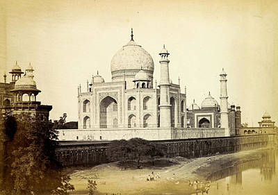 Namaste With Pixels Royalty Free Images - View of the Taj Mahal in Agra, Shepherd Robertson, 1862 - 1864 Royalty-Free Image by Artistic Rifki