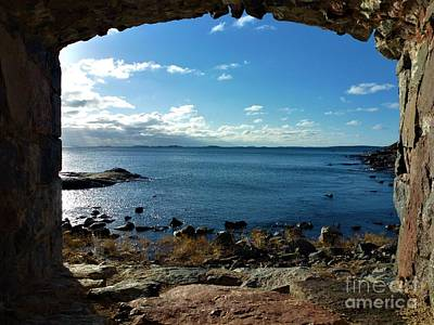 Fantasy Royalty-Free and Rights-Managed Images - View on the baltic sea from loophole on the island of Suomenlinna by Pis Ces