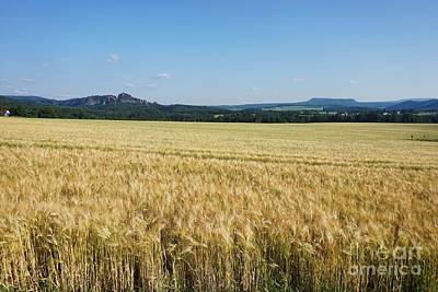 Studio Grafika Patterns Rights Managed Images - View over teh fields of Rathmannsdorf to some peaks of Saxon Switzerland Royalty-Free Image by Pis Ces