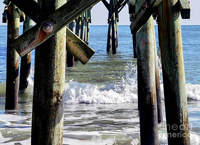 Red Roses - View Under the Pier by Marie Dudek Brown