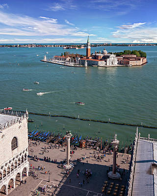 Whats Your Sign - Viewof San Giorgio Maggiore from Above - Venice by Barry O Carroll