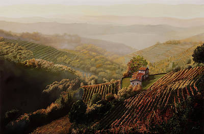 Royalty-Free and Rights-Managed Images - vigne di Langa nella nebbia by Guido Borelli