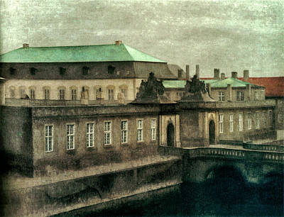 Vintage Automobiles - Vilhelm Hammershoi view of old christiansborg palace 02 by Artistic Rifki