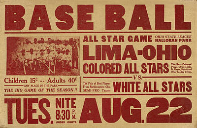 Sports Royalty-Free and Rights-Managed Images - Vintage All Star Baseball Poster by David Hinds