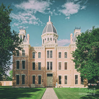 Stellar Interstellar Royalty Free Images - Vintage Architectural Photograph of the Presidio County Courthouse in Marfa - West Texas Royalty-Free Image by Silvio Ligutti
