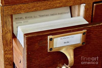 Pop Art Rights Managed Images - Vintage Card Catalog Royalty-Free Image by James Lloyd