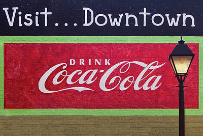 Royalty-Free and Rights-Managed Images - Vintage Coca Cola Sign by Andrew Soundarajan