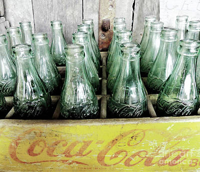 World War 2 Action Photography Royalty Free Images - Vintage Coke Bottles in a Case Royalty-Free Image by Sharon Williams Eng