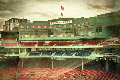 Sports Royalty-Free and Rights-Managed Images - Vintage Fenway Park - Boston by Joann Vitali