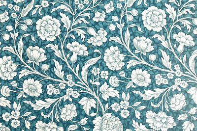 Royalty-Free and Rights-Managed Images - Vintage Floral Background by Julien