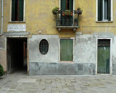 Photograph - Vintage House Front, Venice by Jo Johnson