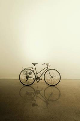 Beers On Tap - Vintage Ladies Bicycle - Portrait 1 by Mark Roger Bailey