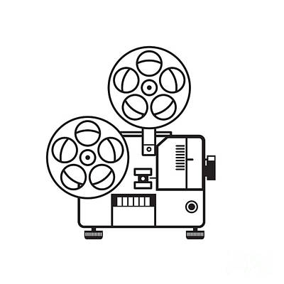 Katharine Hepburn - Vintage Movie Film Projector Retro by Aloysius Patrimonio