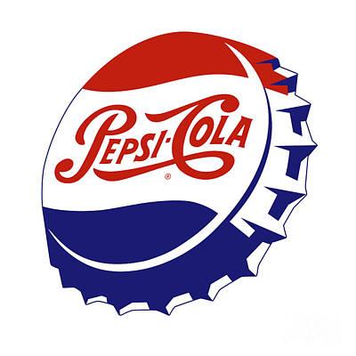 From The Kitchen - Vintage Pepsi Cola Bottle Caps 06_White bgr by Bobbi Freelance