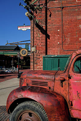 Photograph - Vintage Rusty Truck In Distillery Area by Farzad Frames