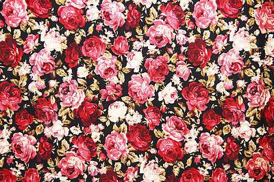 Royalty-Free and Rights-Managed Images - Vintage style of tapestry flowers fabric pattern by Julien