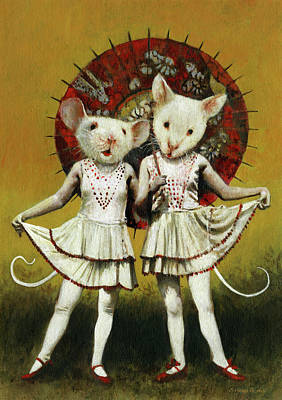 Royalty-Free and Rights-Managed Images - Vintage Theatrical Mice by Michael Thomas