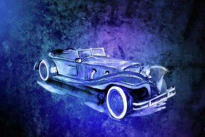 Transportation Digital Art - Vintage Theme Car Art by Johanna Hurmerinta