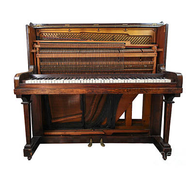 Photograph - Vintage Upright Piano Number 2 by Tom Conway