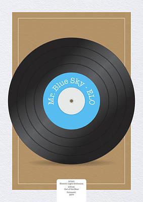 Digital Art - Vinyl Record by Samuel Whitton