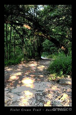Outdoor Graphic Tees - Violet Crown Trail Morning by Felipe Adan Lerma
