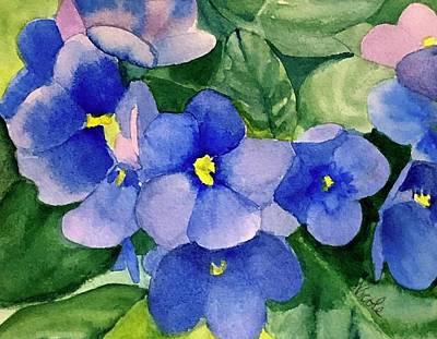 Royalty-Free and Rights-Managed Images - Violets by Nicole Curreri