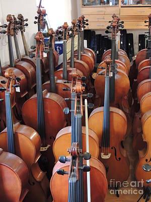 Water Droplets Sharon Johnstone - Violines Germany Stugart by Diane Greco-Lesser