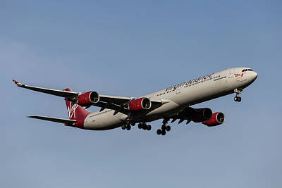 Frank Sinatra Rights Managed Images - Virgin Atlantic Airbus A340-642                   . Royalty-Free Image by David Pyatt