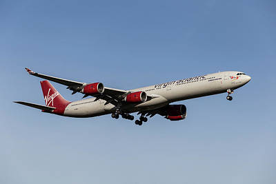 Frank Sinatra Rights Managed Images - Virgin Atlantic Airbus A340-642              4 Royalty-Free Image by David Pyatt