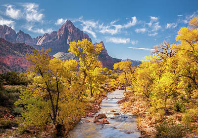 Mt Rushmore Royalty Free Images - Virgin River Toward the Watchman II Royalty-Free Image by Constance Reid