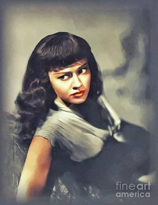 Painting - Virginia Christine, Vintage Actress by John Springfield